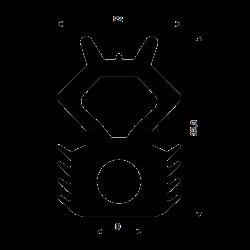 Scheibenheber, Doppel-Gummisauger aus Metall 80 kg