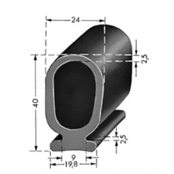 Lift/Port Profil 40mm Sort