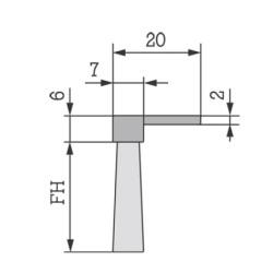 Flexibel Børsteliste P-26/20mm