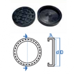 Liftgummi rund Ø123mm
