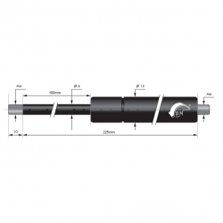 Gasfedern 100mm 6/15mm