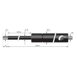 Gasfedern 250mm 10/21mm