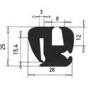 G7-8/P3mm S-Typ Verglasungsprofile