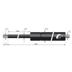 Gasfedern 150mm 8/18mm