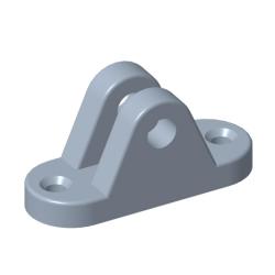 Augenhalterung Ø8mm Stahl