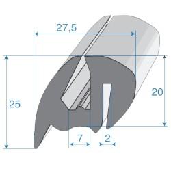 G6-7/P2mm S-Typ Verglasungsprofile