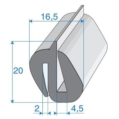 G4-5/P2mm S-Typ Verglasungsprofile