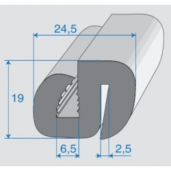G6-7/P2-3mm S-Typ Verglasungsprofile