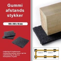 Distanzstücke Granulat 100x100x10mm