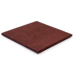 Gummifliser Rød 20mm 500x500mm