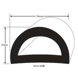 Kantenschutzprofil 2047DU m. Seitendichtung