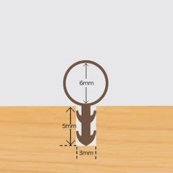 Glasleiste Profil 3x15mm